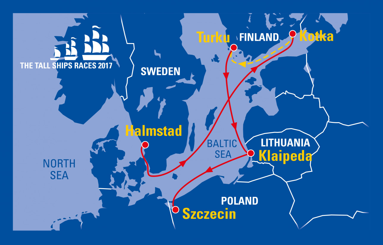 Tall Ships Races 2017 reittikartta