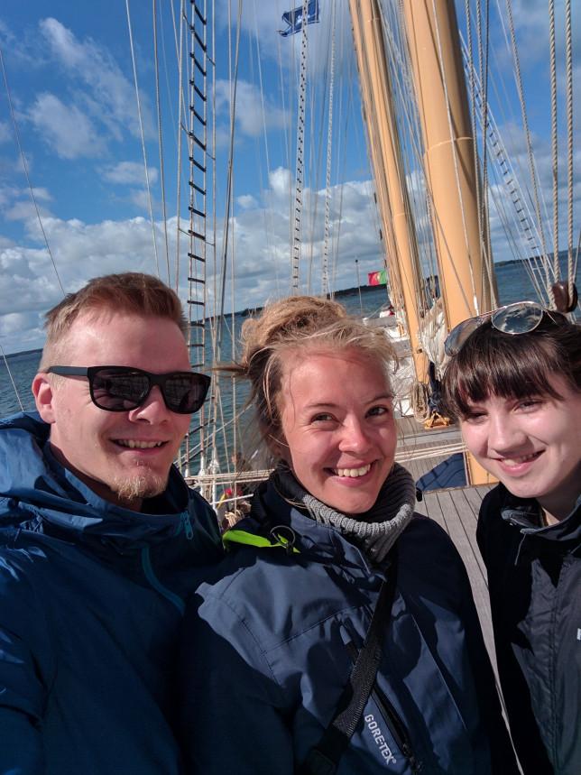 Antti, Isabella ja Siiri, Santa Maria Manuela