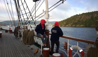 Statsråd Lehmkul lähti Bergenin satamasta kohti Turkua